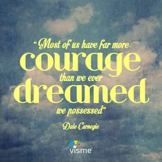 Most of us have far more courage than we ever dreamed we possessed! #Quote #Inspiration