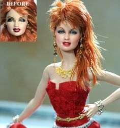 sharing a doll - OOAK Mattel Cyndi Lauper Custom Doll Repaint by Noel Cruz Cyndi Lauper, Divas, Pretty Dolls, Beautiful Dolls, Celebrity Barbie Dolls, Realistic Dolls, Lifelike Dolls, Doll Repaint, Little Doll
