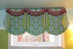 Custom Window Valance Ideas With Green Color