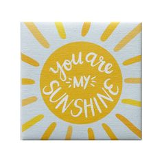 Canvas Magnet Alexa You are my Sunshine - 4x4