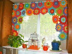 modern retro kitchen curtains