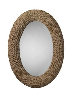 Annie Selke Furniture Neptune Mirror. This nautical oval mirror will show you the best-looking sailor around. Framed with coiled rope, it's a textured and natural touch to add to any coastal room.
