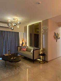 Take some inspiration from this stylishly designed sample flat to give a trendy and stylish look to your apartment. Minimalist Interior, Modern Minimalist, Oversized Mirror, Interiors, Interior Design, Decoration, Inspiration, Furniture, Home Decor