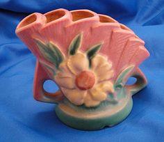1940's Roseville Pottery Flower Frog Hull Pottery, Roseville Pottery, Mccoy Pottery, Pottery Art, Earthenware, Stoneware, Antique Pottery, Flower Frog, Vintage Planters