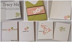 stampin up garden party thank you cards and holder