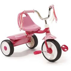 Radio Flyer Ready-To-Ride Folding Tricycle, Pink - Walmart.com