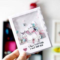 Ay el blog... que abandonado lo tengo... Tanto que casi se me olvida que ya podéis ver una entrada con todos los detalles del snailmail que mandé a @bypeonia como parte del último envío de @buzoncraft  #unicorn #shakercard #shaker #postcard #card #snailmail #correobonito