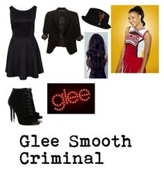 """Glee ""Smooth Criminal"" Santana Lopez outfit"" by andrea-mauvais ❤ liked on Polyvore featuring Tabitha Simmons, Brixton, The Limited and Naya"