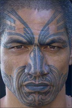 Maori man, photo by Art Wolfe