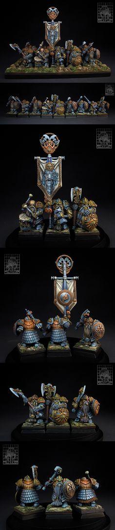 CoolMiniOrNot - Longbeards, the oldest Dwarf warriors. Fantasy Dwarf, Fantasy Model, Fantasy Figures, Fantasy Battle, Fantasy Warrior, Warhammer Models, Warhammer Fantasy, Fantasy Paintings, Mini Paintings