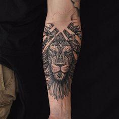 Lion Tattoo Aztec @fernandoshimizu