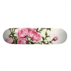 This is such a pretty skate board deck.  It is probably my favorite out of all of them. Yes it is really girly but that's ok.  There aren't enough designs for girls so this would sell.  I love the colors and how the flowers were placed on the board. The White background also works really well.
