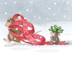 Featuring: Amanda & Monica  Verse: It's the little things that matter most. Merry Christmas!  Click below to view this new image on a bunch of new products! http://www.house-mouse.com/cgi-bin/gallery.cgi?image=c237s  Or click below to go straight to our New 2016 Christmas Cards. http://house-mouse.com/php/AssortedChristmasPackagesCC-16.phpp  To send this as a FREE Eeek-Mail Card (ecard), click below: http://www.house-mouse.com/cgi-bin/eekmail.cgi?cmd=click&gc&card=m.c237&name&email