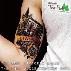 Twin Peaks Diane tattoo