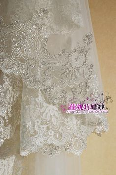 Luxury bridal veil silveryarn embroidery paillette lace veil 2.8 meters 3.5 meters 5 meters veil k99-in Bridal Veils from Weddings & Events on Aliexpress.com | Alibaba Group