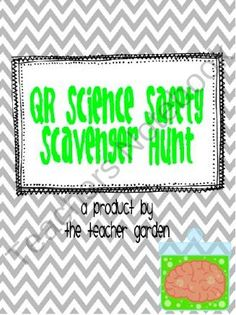 QR Code Science Safety Scavenger Hunt and Closure Activity from The Teacher Garden on TeachersNotebook.com (15 pages)  - This fun and innovative lesson plan helps reinforce the concepts of science lab safety to 4th-8th grade students with a QR code scavenger hunt.
