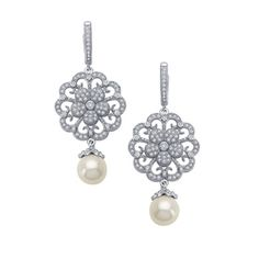 Lafonn Earrings    SIMULATED DIAMOND STERLING SILVER BONDED WITH PLATINUM