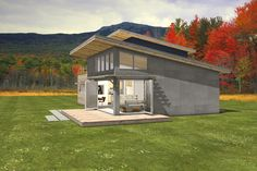 double shed roof house plans