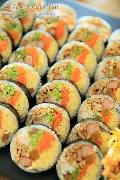 김밥맛있게싸는법 예쁘게 말기까지 자세하게 알려드려요 : 네이버 블로그 Korean Side Dishes, Vegetarian Recipes, Cooking Recipes, K Food, Asian Snacks, Indonesian Food, Recipes From Heaven, Korean Food, Light Recipes