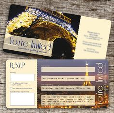 paris invitation images | Hiba and David were also planning a Paris themed wedding and reception ...
