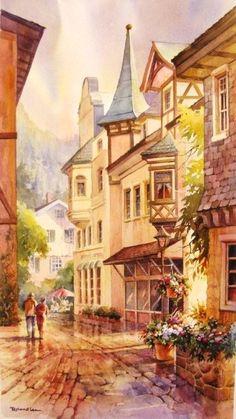 Roland Lee -Bavarian Street Scene