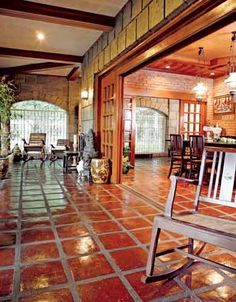 Traditional Filipino Style: Ang Bahay na Bato Filipino Architecture, Philippine Architecture, Architecture Design, Filipino Interior Design, Asian Interior, Modern Filipino House, Future House, Philippine Houses, Bali