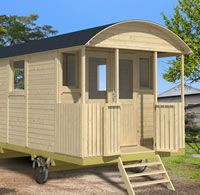 Shepherd hut and gypsy caravan from Tuin, a substantial and impressive garden building Gypsy Trailer, Gypsy Caravan, Gypsy Wagon, Shepherds Hut For Sale, Camping, Tyni House, Bothy, Garden Buildings, Garden Office