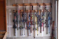 Double ski rack space saver