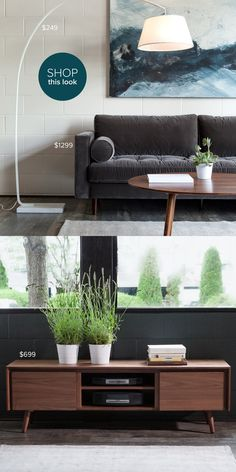 Article | Modern, Mid-Century and Scandinavian Furniture- check out this store! Mid Century Modern Couch, Grey Couches, Scandinavian Furniture, Coastal Interior, Home Projects, Midcentury Modern, Home Goods, Family Room, Grey Sofas