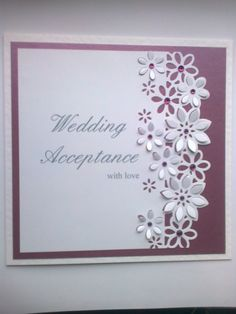 Best 12 Birthday ideas – Page 549228117056768151 Wedding Anniversary Cards, Wedding Cards, Card Making Inspiration, Making Ideas, Wedding Acceptance Card, Crafters Companion Cards, Engagement Cards, Shaped Cards, Fancy Fold Cards