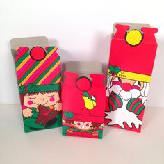 vintage 1970s Christmas pop up gift/goodie boxes  9 piece set by forrestinavintage, $18.00