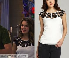 Austin & Ally: Season 4 Episode 3 Ally's White Lace Yoke Top
