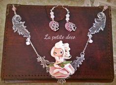 rose neckalce by lapetitedeco