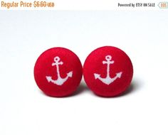 Check out this item in my Etsy shop https://www.etsy.com/listing/209362012/on-sale-anchor-earrings-red-navy