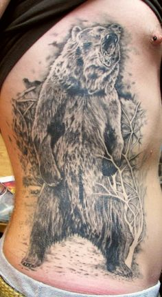 kodiak bear tattoo at holy roller tattoo