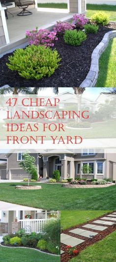 Simple, easy and cheap DIY landscaping ideas for front yards.