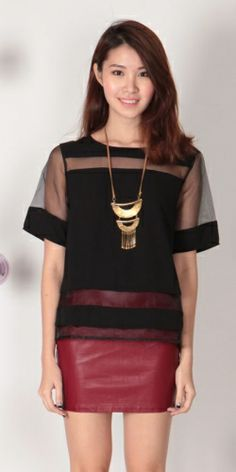Mesh Panels Top (Black)