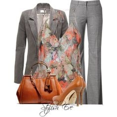 CHATA'S DAILY TIP: Need to look smart and professional at work and want to keep true to your feminine side? Add a feminine top under your structured suit with a pop of colour for your accessories. Keep your jacket on for work = super professional. COPY CREDIT: Chata Romano Image Consultant, Samantha Moir IMAGE CREDIT: Stylish Guru's Facebook page