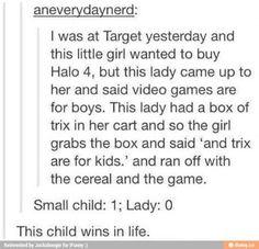 Child:1 lady:0