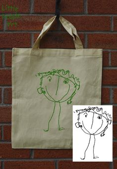Items similar to Personalized Tote Bag - Your Child's Drawing Silk Screen Print on Organic Cotton Unbleached Shopping Bag on Etsy Personalized Tote Bags, Tote Bags Handmade, Handmade Gifts, People Art, Keepsakes, Little People, Screen Printing, Unique Gifts, Reusable Tote Bags