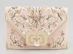 Marchesa Valentina Beaded Envelope Clutch