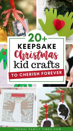 Christmas is a wonderful time to give a keepsake gift - and keepsake crafts that involve your kids is a terrific activity and present! Included in this gift idea craft collection are hand and footprint Christmas crafts, fingerprint crafts silhouette crafts and more! These keepsake Christmas Crafts include ideas for ornaments, wall decor, Christmas cards and many others! #Christmascrafts #Christmasideas #keepsake #keepsakecrafts #activitieswithkids #memorycrafts #giftideas