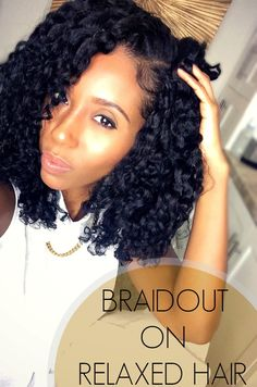 Perfect Braidout on Relaxed Hair