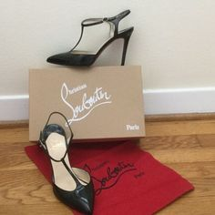 Christian Louboutin Black Coxinelle T-Bar Pump Christian Louboutin Black Patent Leather Coxinelle T-Bar Pumps. Very gently worn. Normal wear to insole and red bottoms. In excellent shape. Comes with dust bag and original box. From a smoke and pet free home. No trades. BUNDLE DISCOUNTS DO NOT APPLY TO THIS ITEM. Christian Louboutin Shoes Heels