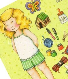 Mary Engelbreit Home Companion Goldilocks Paper Doll Sheet | LePetitPoulailler - Toys & Hobbies on ArtFire
