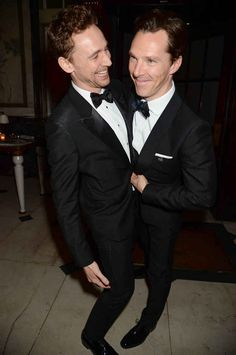 As did Benedict Cumberbatch and Tom Hiddleston at the after party. <3
