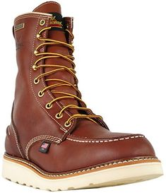 Thorogood 1957 Series Men's Moc Toe, MAXwear Wedge Waterproof Non-Safety Toe Boot Safety Toe Boots, Mens Work Shoes, Red Wing Boots, Leather Shoes, Working Boots, Combat Boots, Safety Footwear, Wedges, United Kingdom