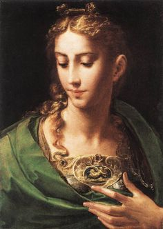 Pallas Athene: Parmigianino, c. 1539 (Royal Collection, Windsor)