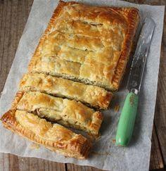 POTATO, LEEK, SMOKEY BACON & CHEDDAR SLAB PIE, Carême Pastry