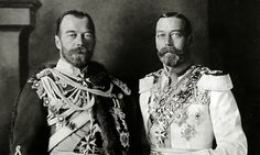 George V (right) with his cousin Tsar Nicholas II. Photograph Popperfoto Getty Images